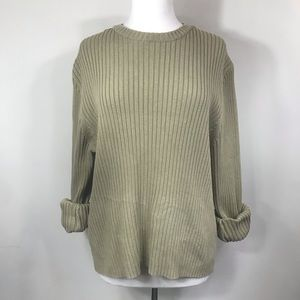J CREW | 100% Cotton Ribbed Sweater